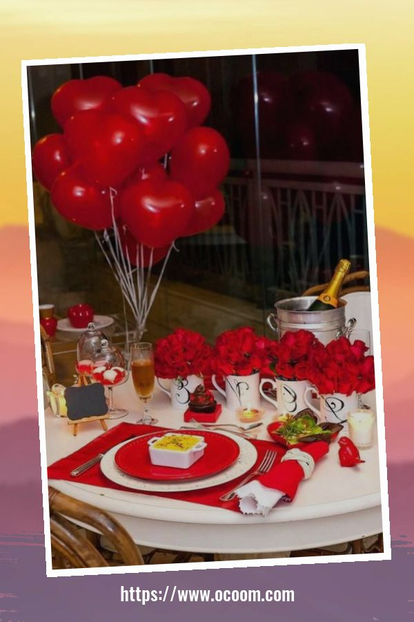 51 Elegant Table Settings Ideas For Valentines Day 21