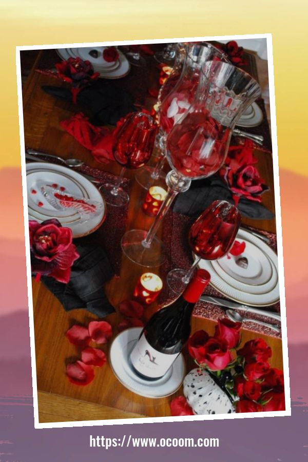 51 Elegant Table Settings Ideas For Valentines Day 28