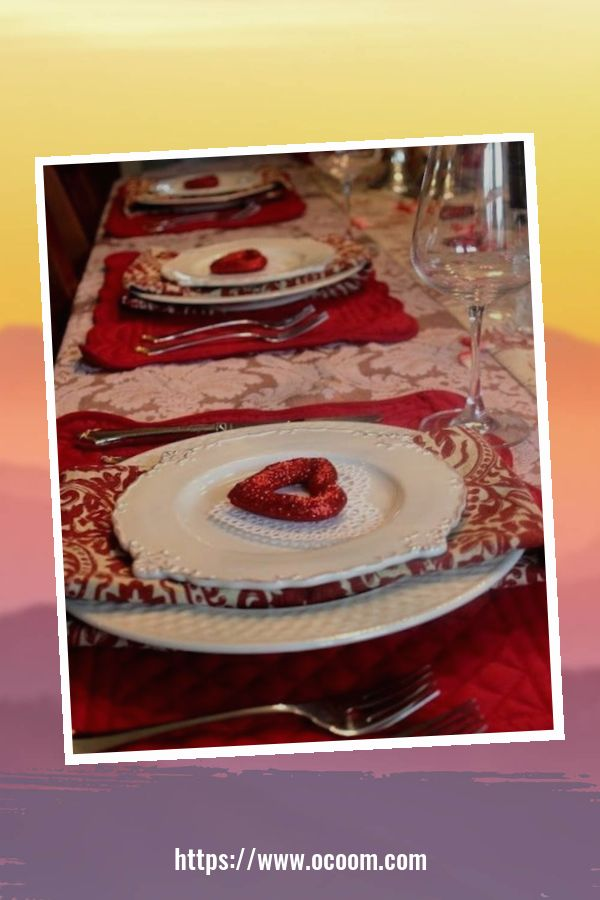 51 Elegant Table Settings Ideas For Valentines Day 31
