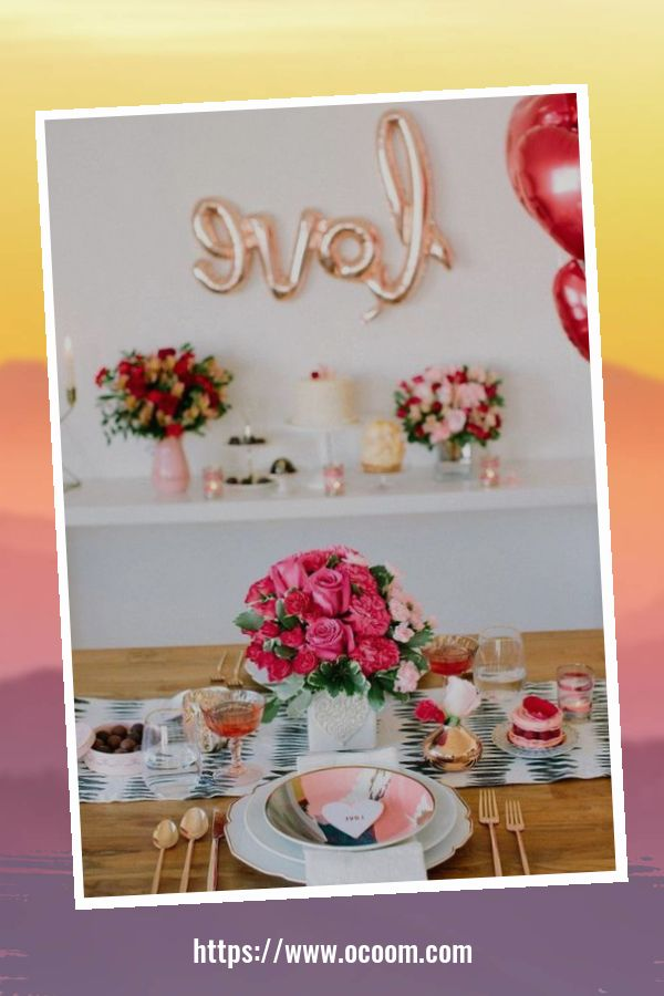 51 Elegant Table Settings Ideas For Valentines Day 37