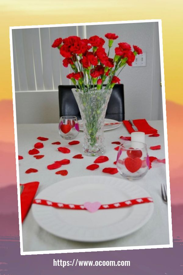 51 Elegant Table Settings Ideas For Valentines Day 47