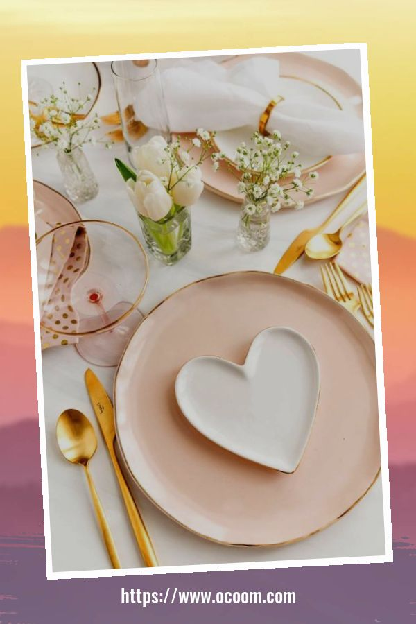 51 Elegant Table Settings Ideas For Valentines Day 49