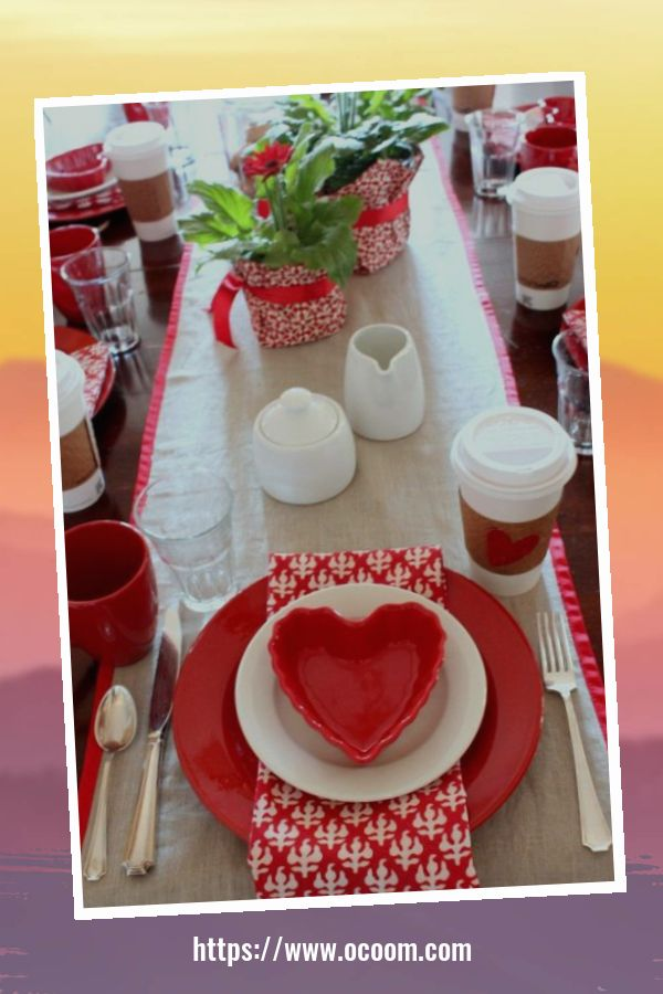 51 Elegant Table Settings Ideas For Valentines Day 50