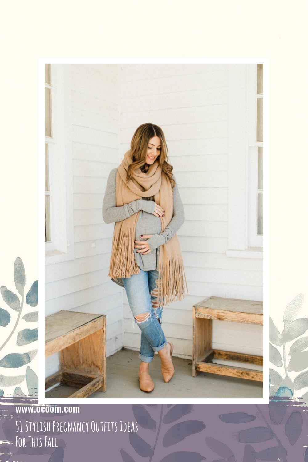 51 Stylish Pregnancy Outfits Ideas For This Fall 3