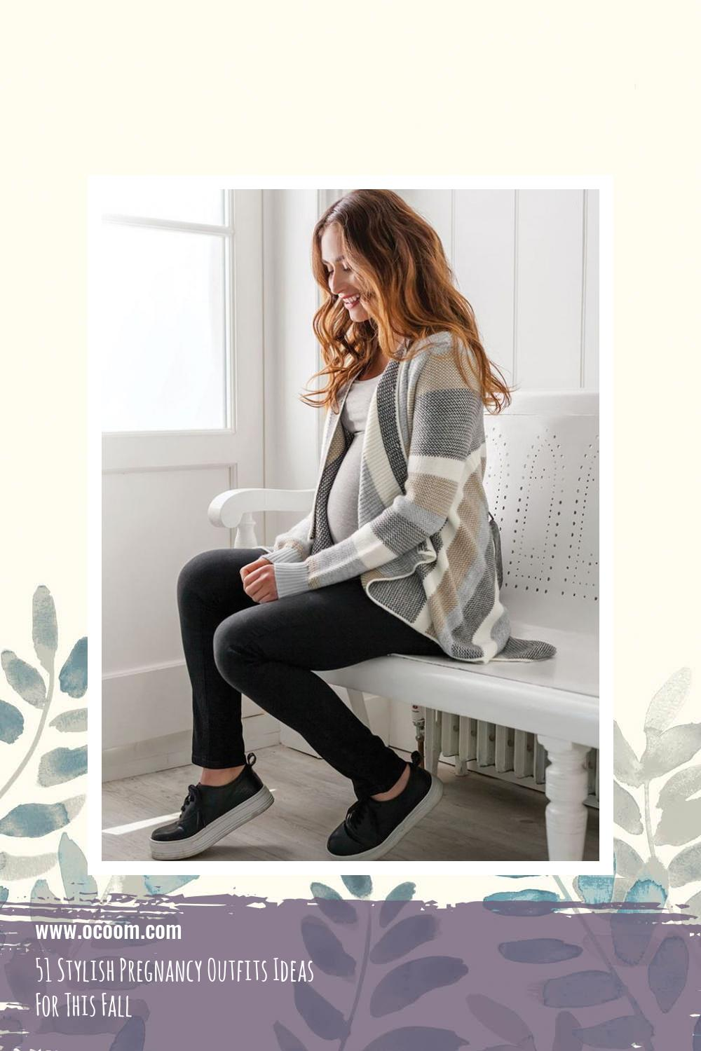 51 Stylish Pregnancy Outfits Ideas For This Fall 33