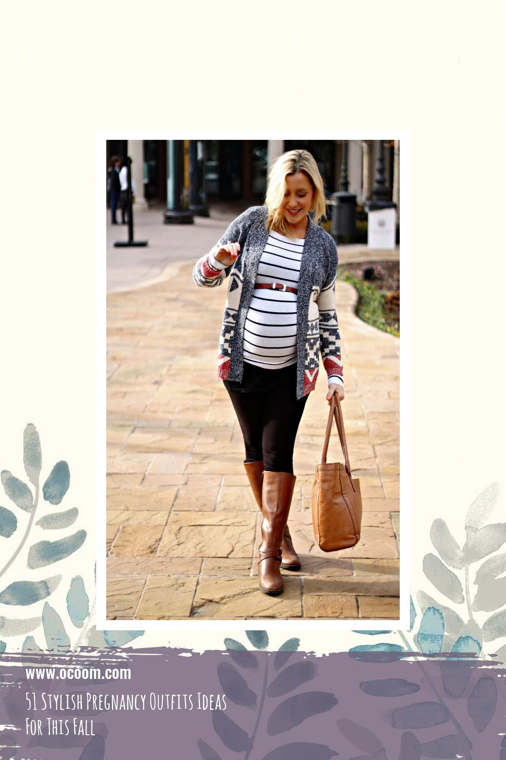 51 Stylish Pregnancy Outfits Ideas For This Fall 41