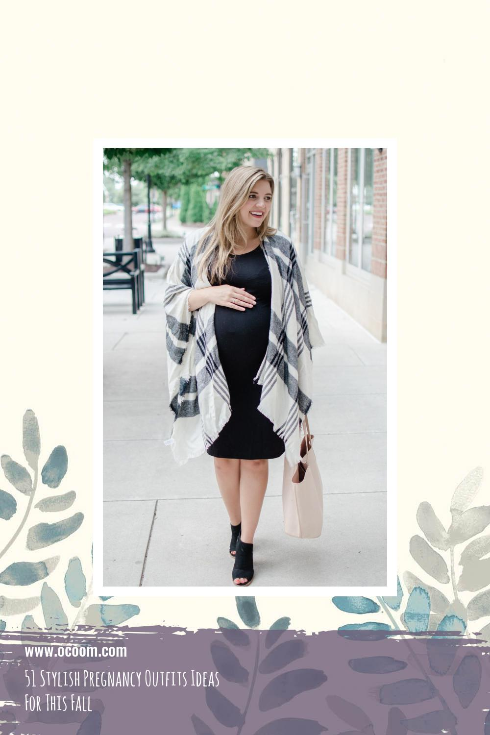 51 Stylish Pregnancy Outfits Ideas For This Fall 46