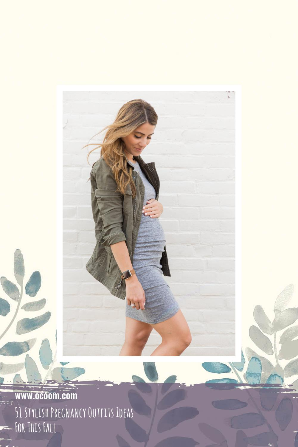 51 Stylish Pregnancy Outfits Ideas For This Fall 50