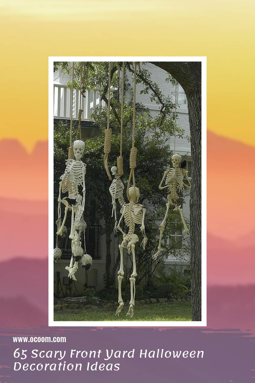 65 Scary Front Yard Halloween Decoration Ideas 15