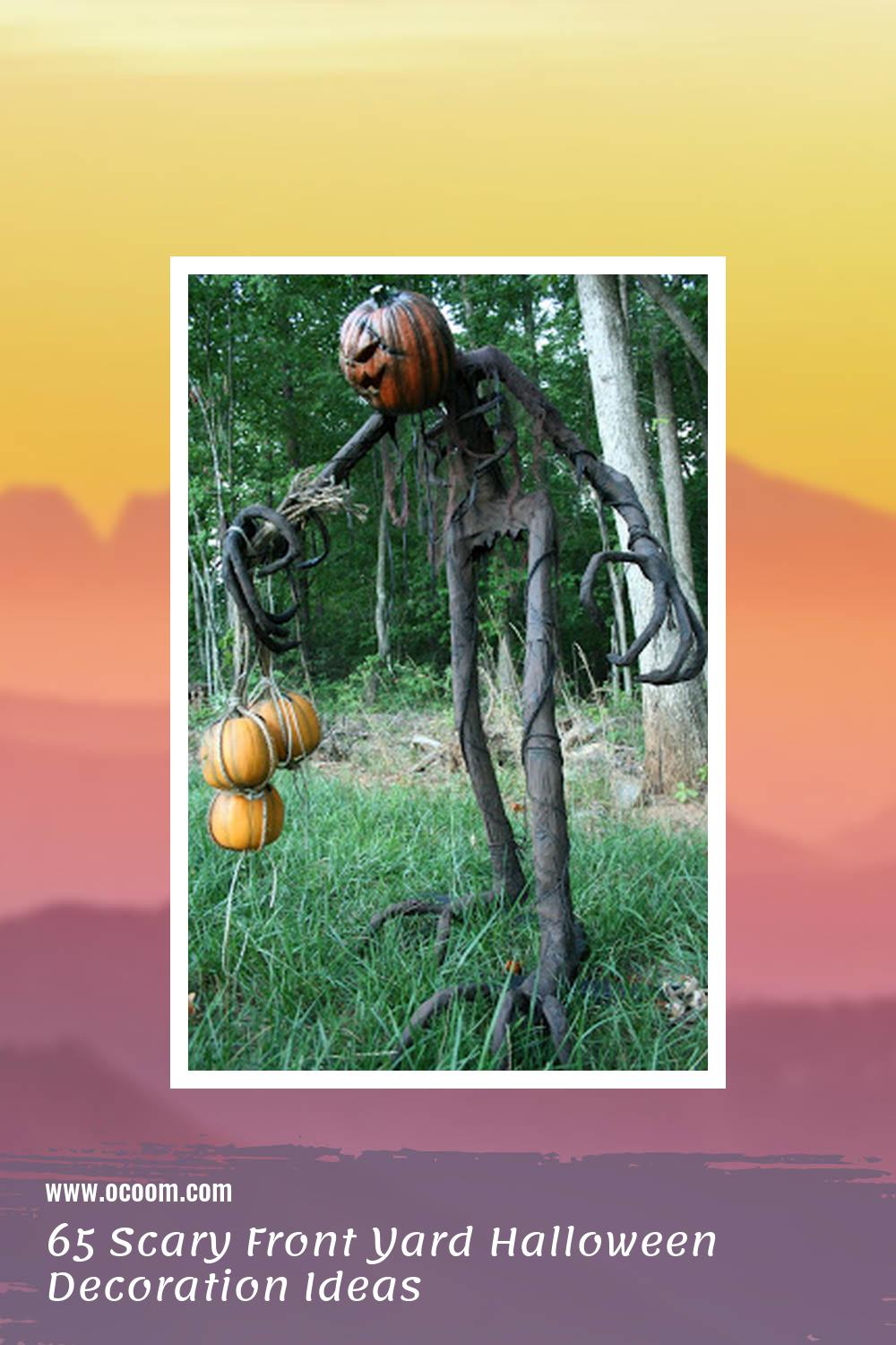 65 Scary Front Yard Halloween Decoration Ideas 19