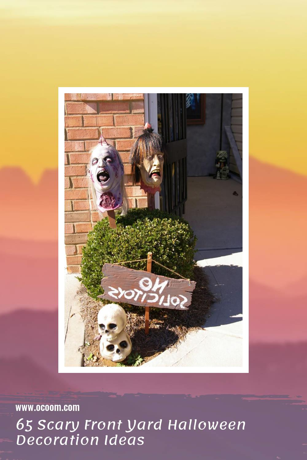 65 Scary Front Yard Halloween Decoration Ideas 22