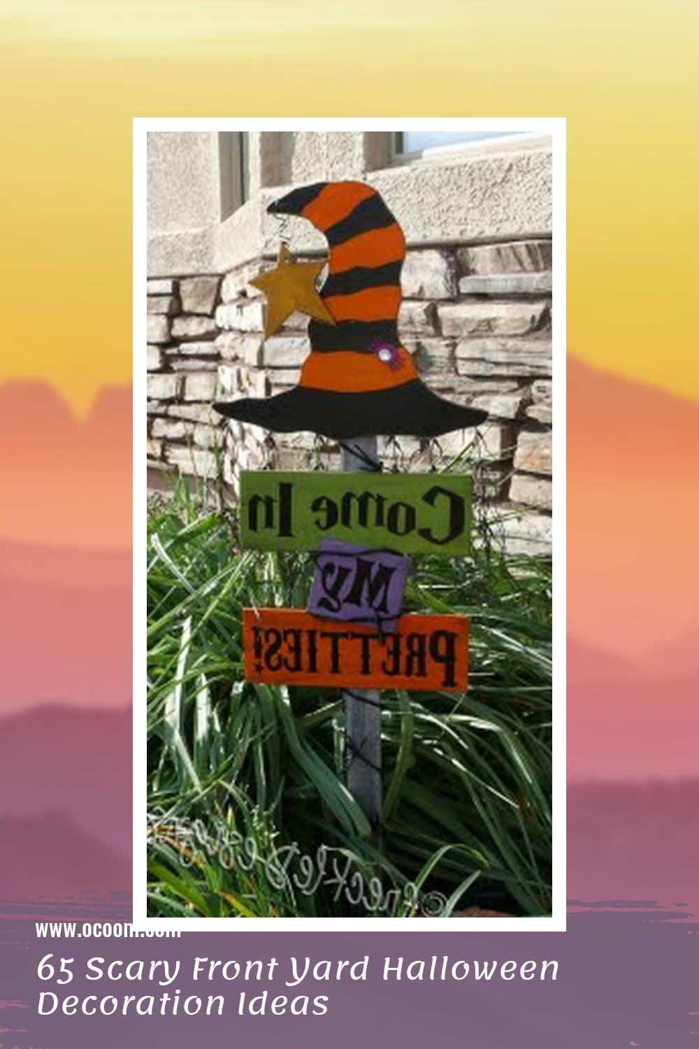 65 Scary Front Yard Halloween Decoration Ideas 25