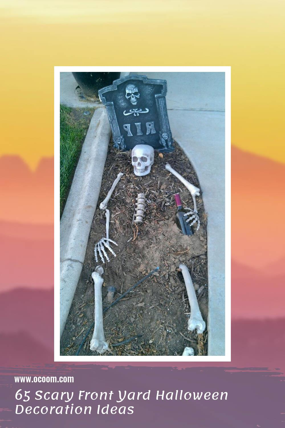 65 Scary Front Yard Halloween Decoration Ideas 26