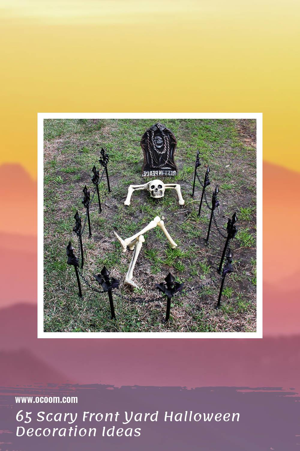 65 Scary Front Yard Halloween Decoration Ideas 31