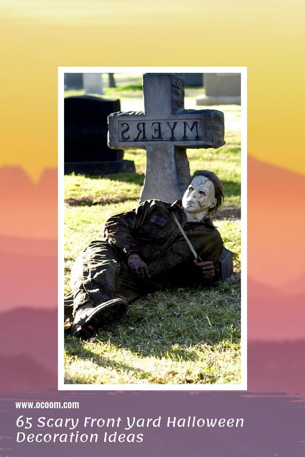 65 Scary Front Yard Halloween Decoration Ideas 36