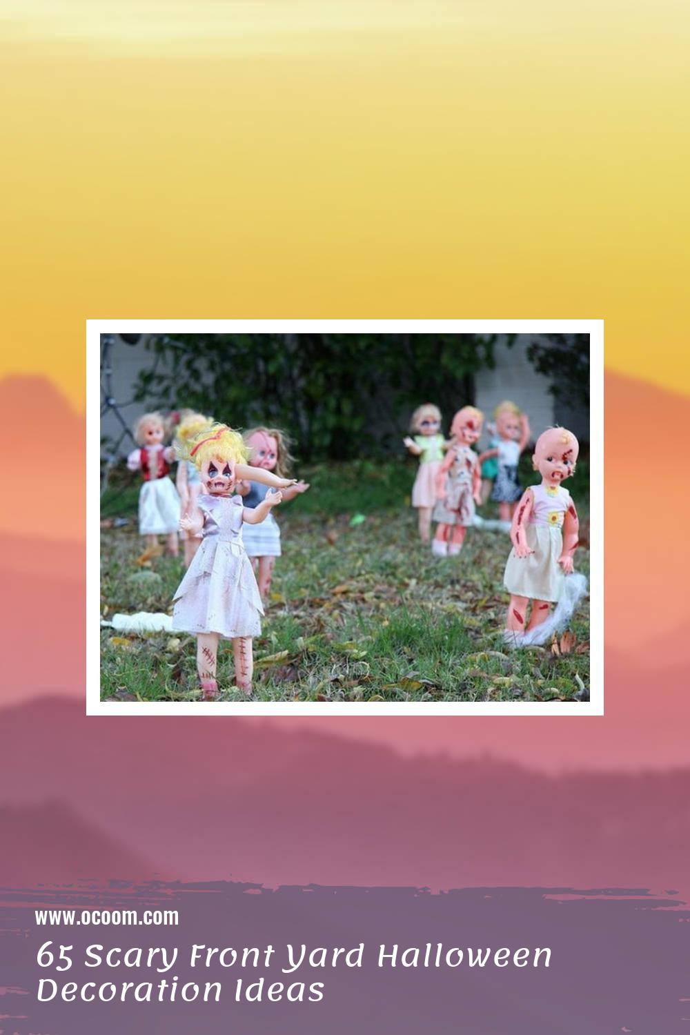 65 Scary Front Yard Halloween Decoration Ideas 51