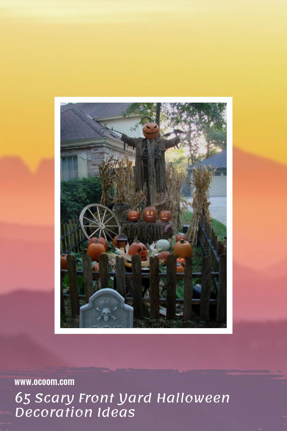 65 Scary Front Yard Halloween Decoration Ideas 57