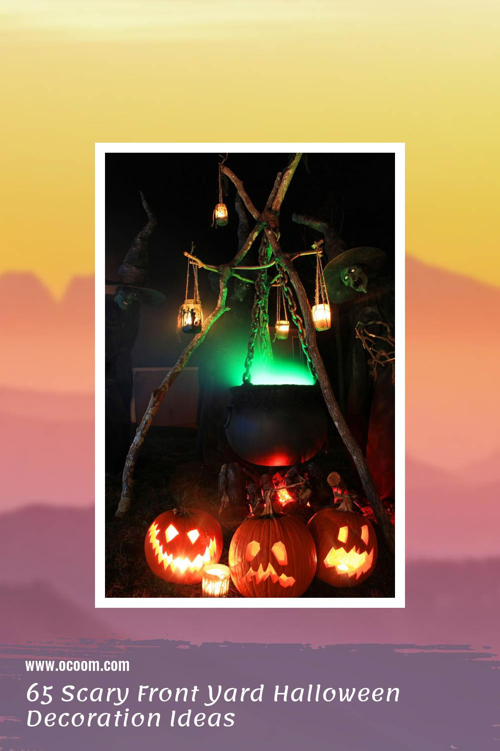 65 Scary Front Yard Halloween Decoration Ideas 59