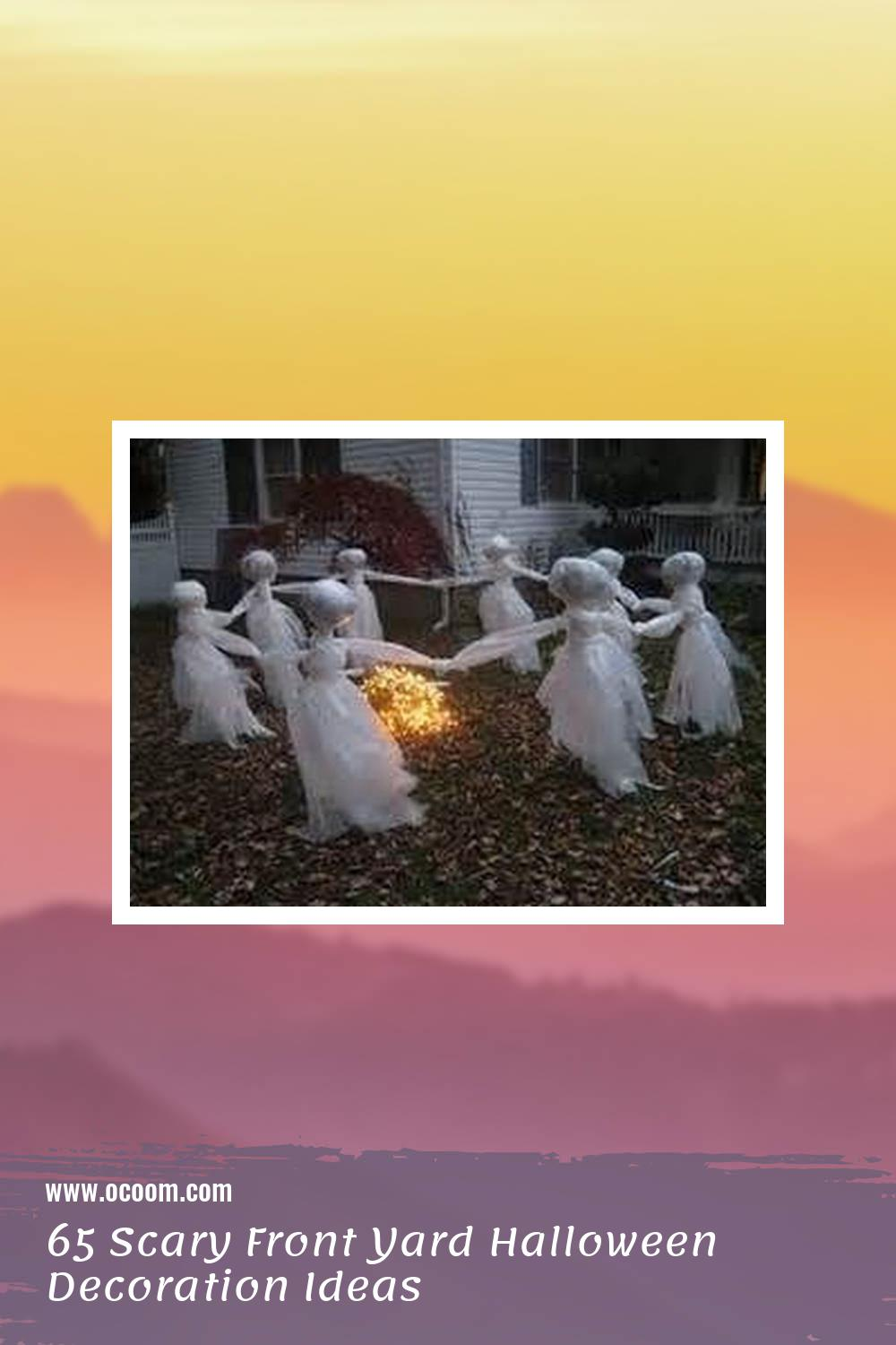 65 Scary Front Yard Halloween Decoration Ideas 60