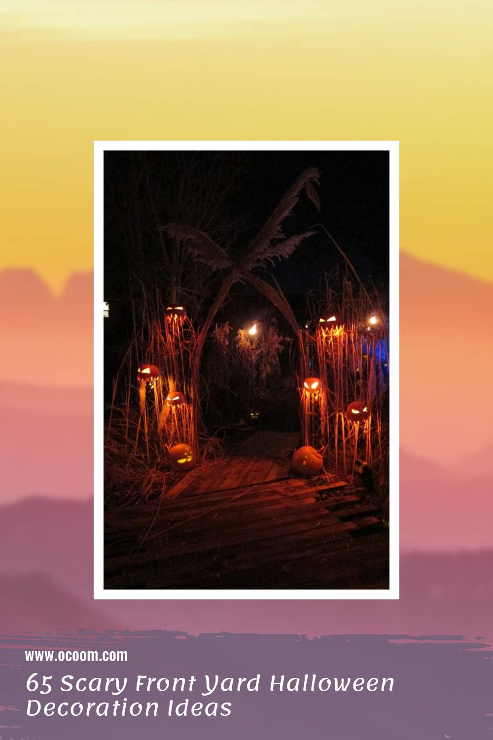 65 Scary Front Yard Halloween Decoration Ideas 61