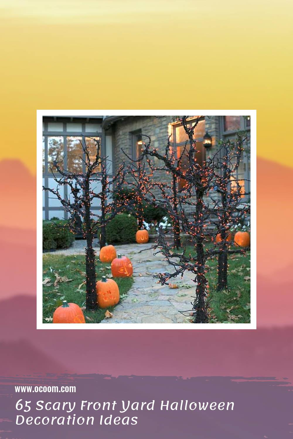 65 Scary Front Yard Halloween Decoration Ideas 62