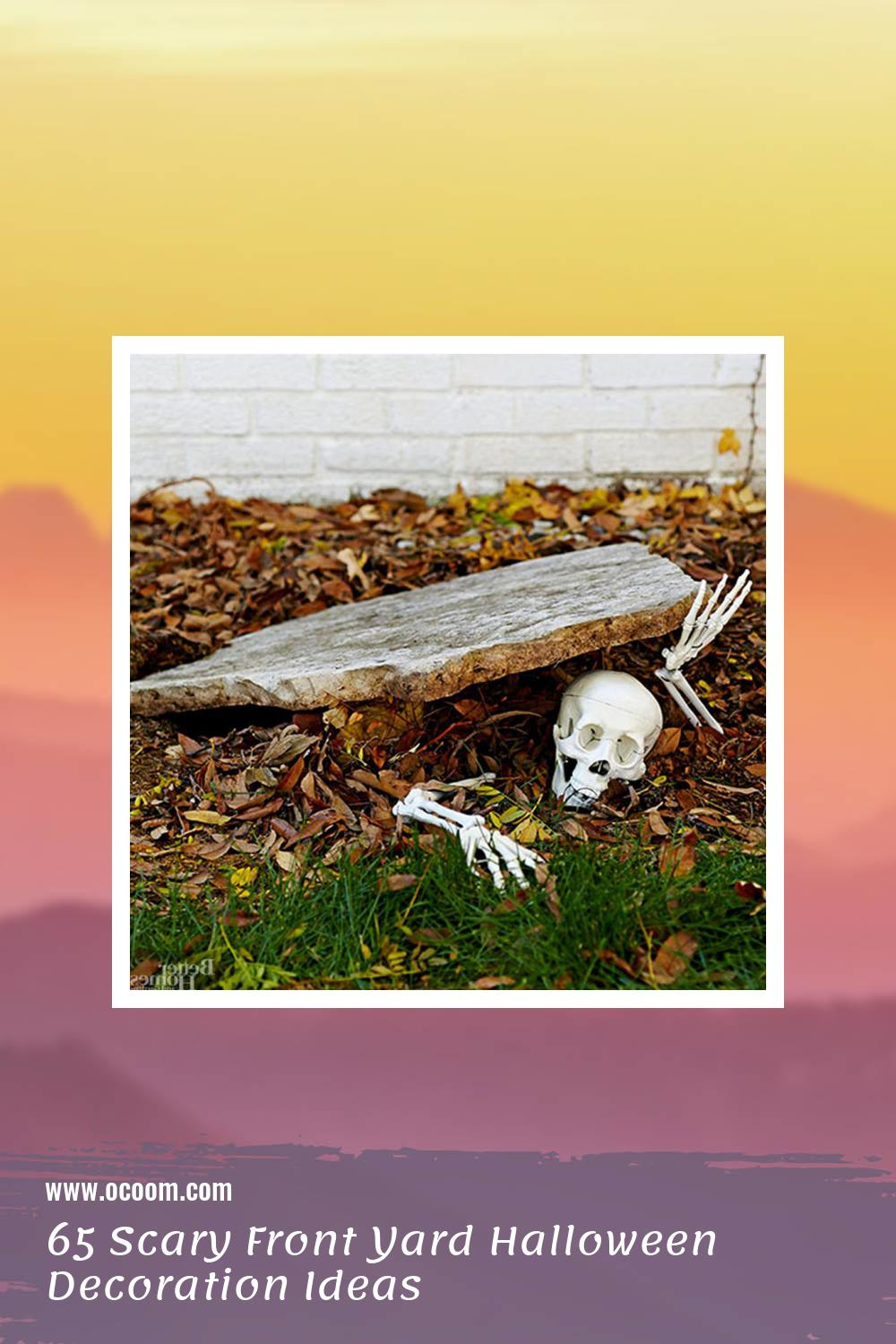 65 Scary Front Yard Halloween Decoration Ideas 64