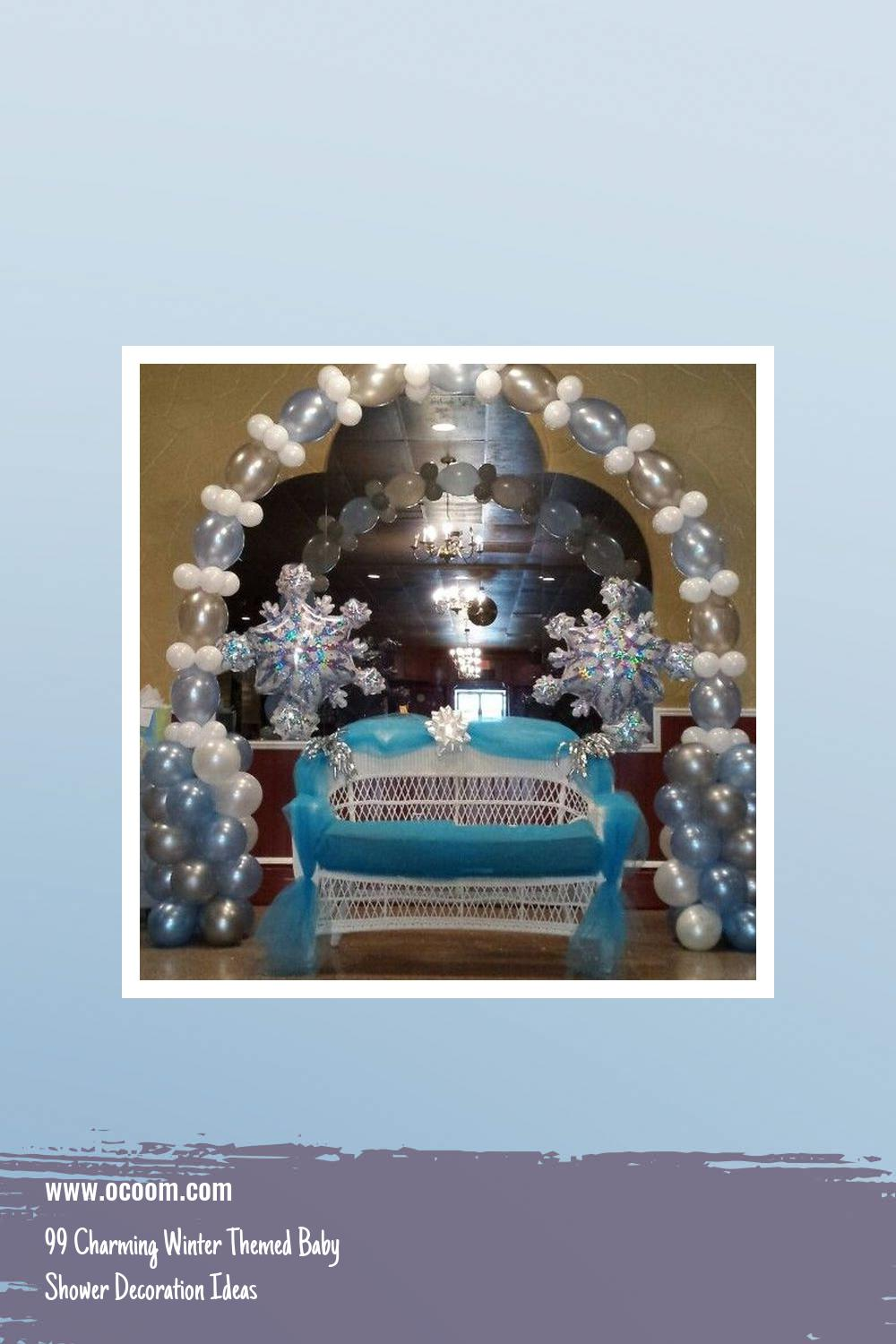 99 Charming Winter Themed Baby Shower Decoration Ideas 26