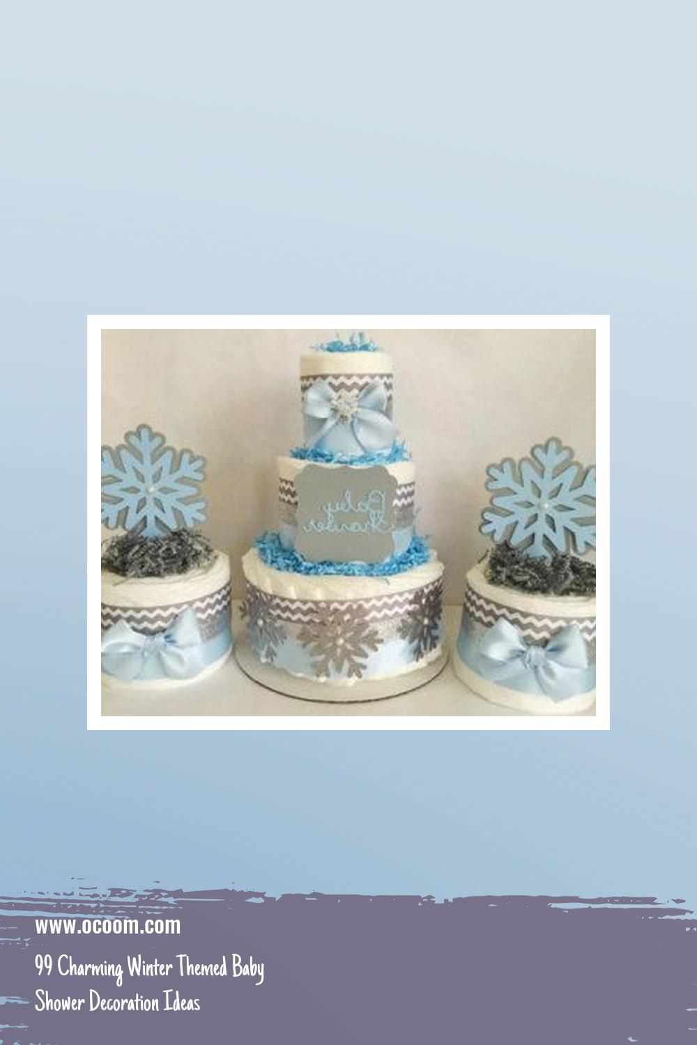 99 Charming Winter Themed Baby Shower Decoration Ideas 27