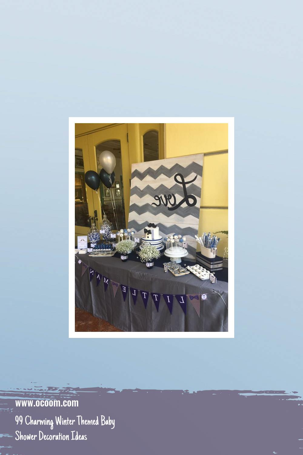 99 Charming Winter Themed Baby Shower Decoration Ideas 4