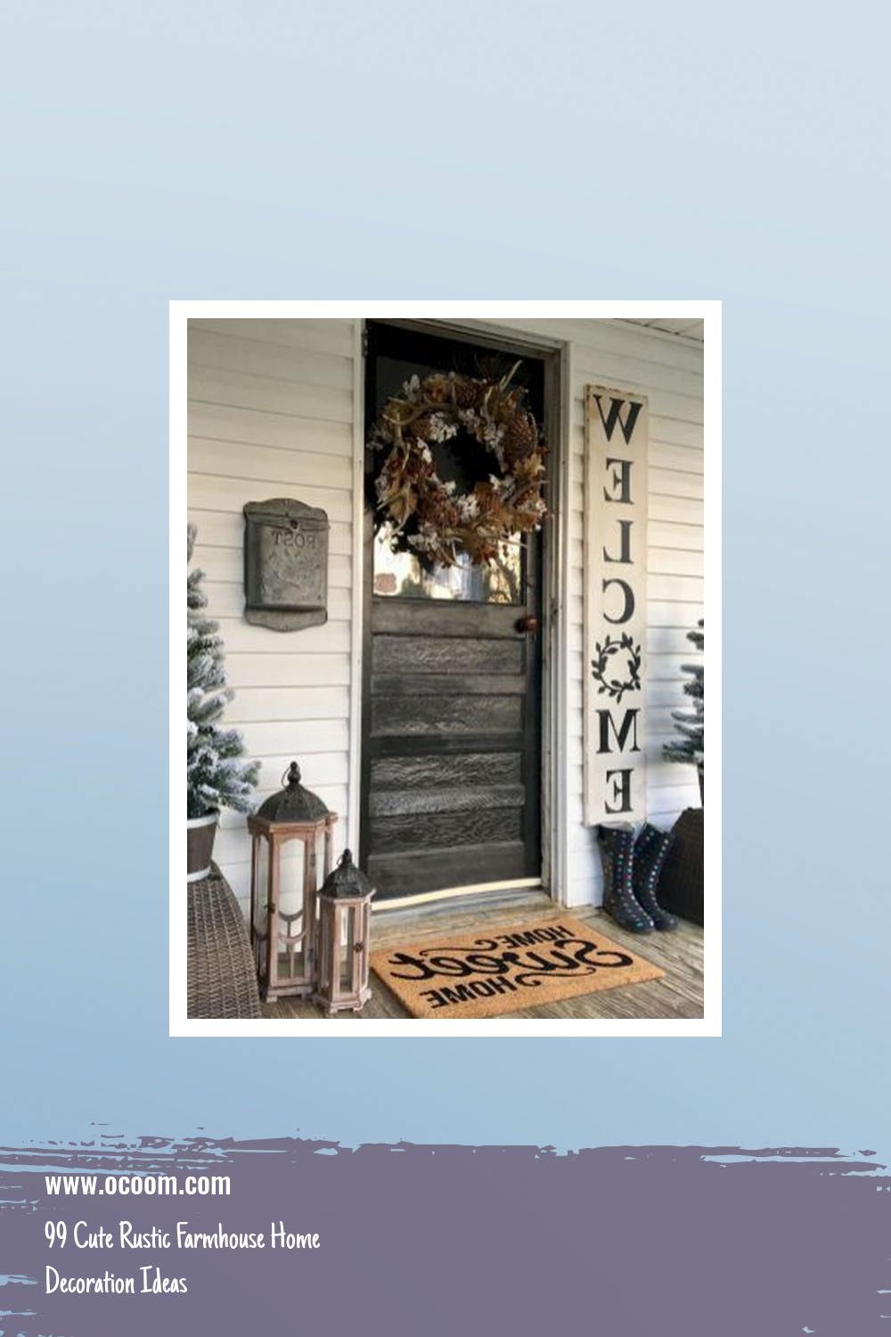 99 Cute Rustic Farmhouse Home Decoration Ideas 10