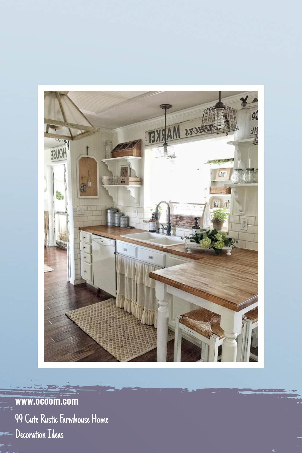 99 Cute Rustic Farmhouse Home Decoration Ideas 13
