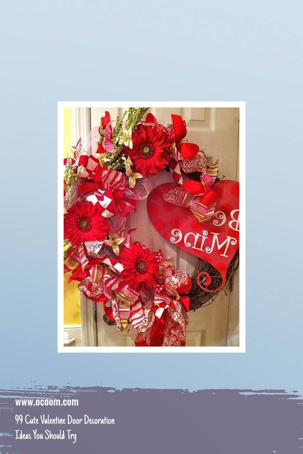 99 Cute Valentine Door Decoration Ideas You Should Try 10
