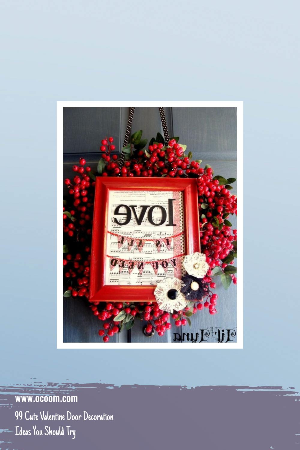 99 Cute Valentine Door Decoration Ideas You Should Try 12