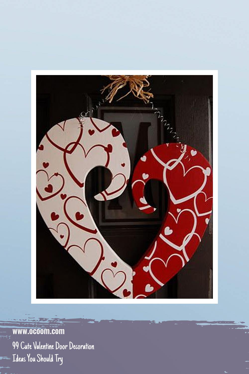 99 Cute Valentine Door Decoration Ideas You Should Try 19