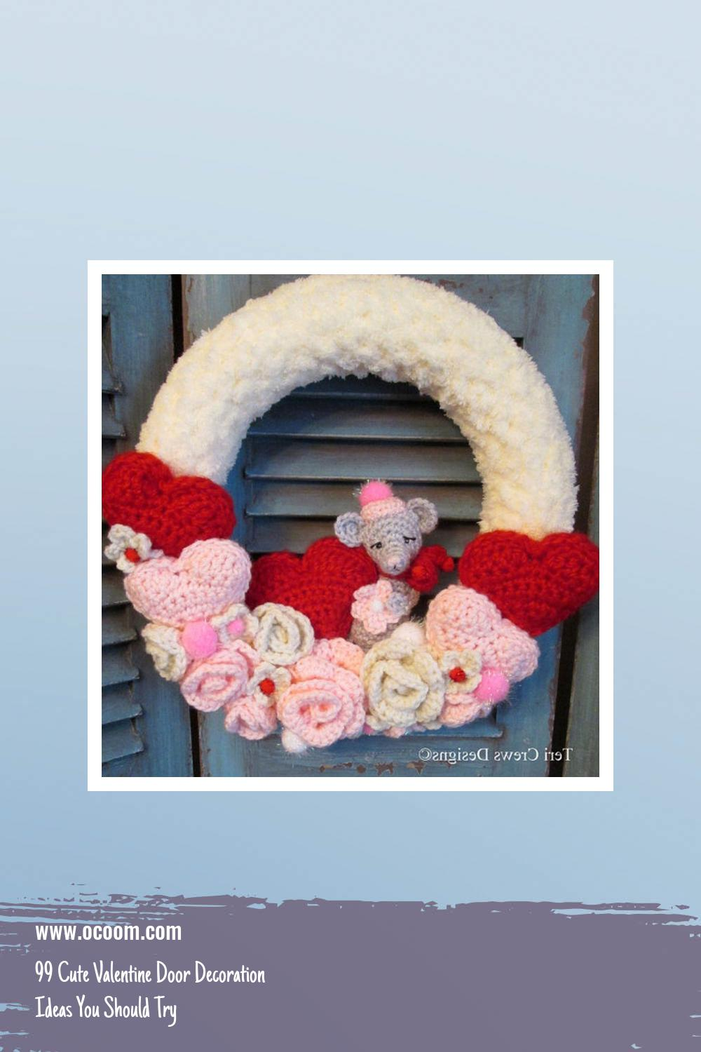 99 Cute Valentine Door Decoration Ideas You Should Try 38