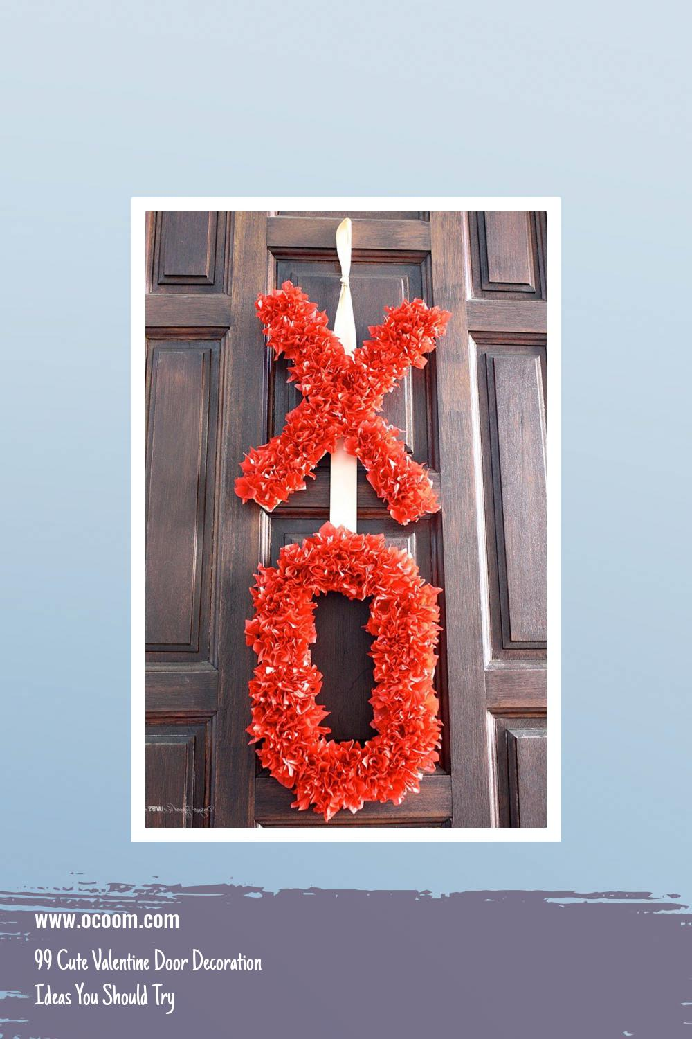 99 Cute Valentine Door Decoration Ideas You Should Try 39