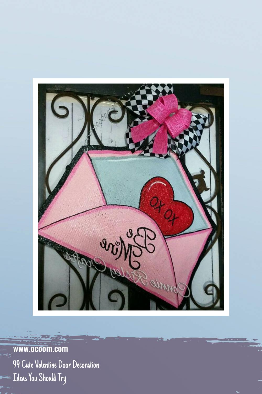 99 Cute Valentine Door Decoration Ideas You Should Try 5