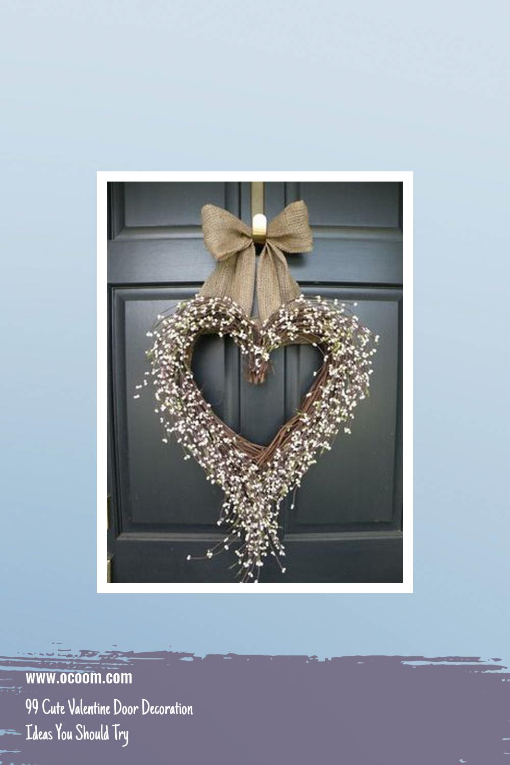 99 Cute Valentine Door Decoration Ideas You Should Try 7
