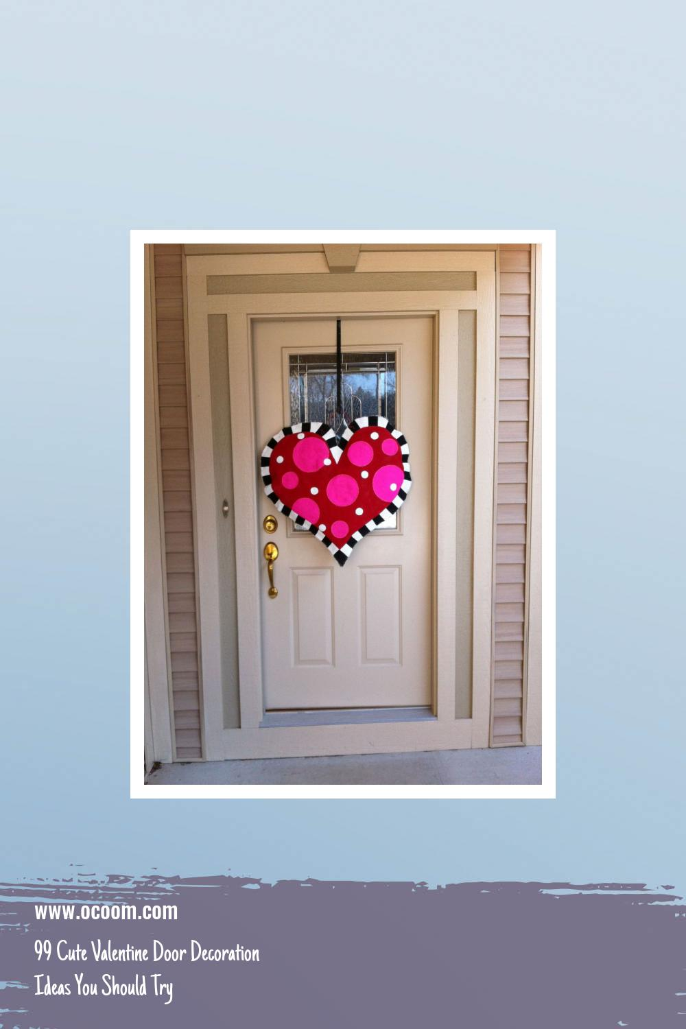 99 Cute Valentine Door Decoration Ideas You Should Try 8