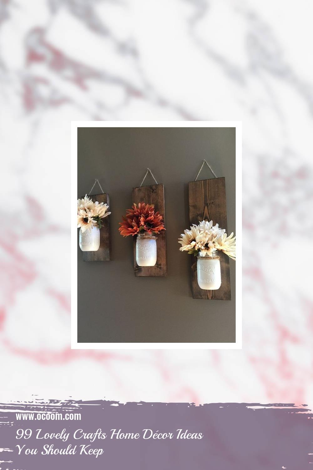 99 Lovely Crafts Home Décor Ideas You Should Keep 30